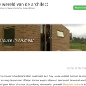 Architectuur Tiny Houses bij Gasfabriek